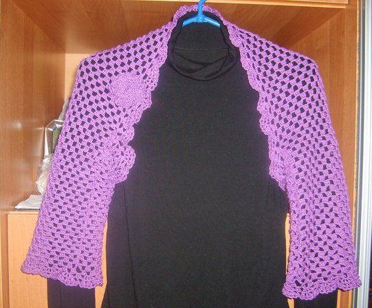 make textile crochet shrug goods