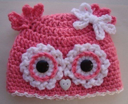 knitted cotton hat owl