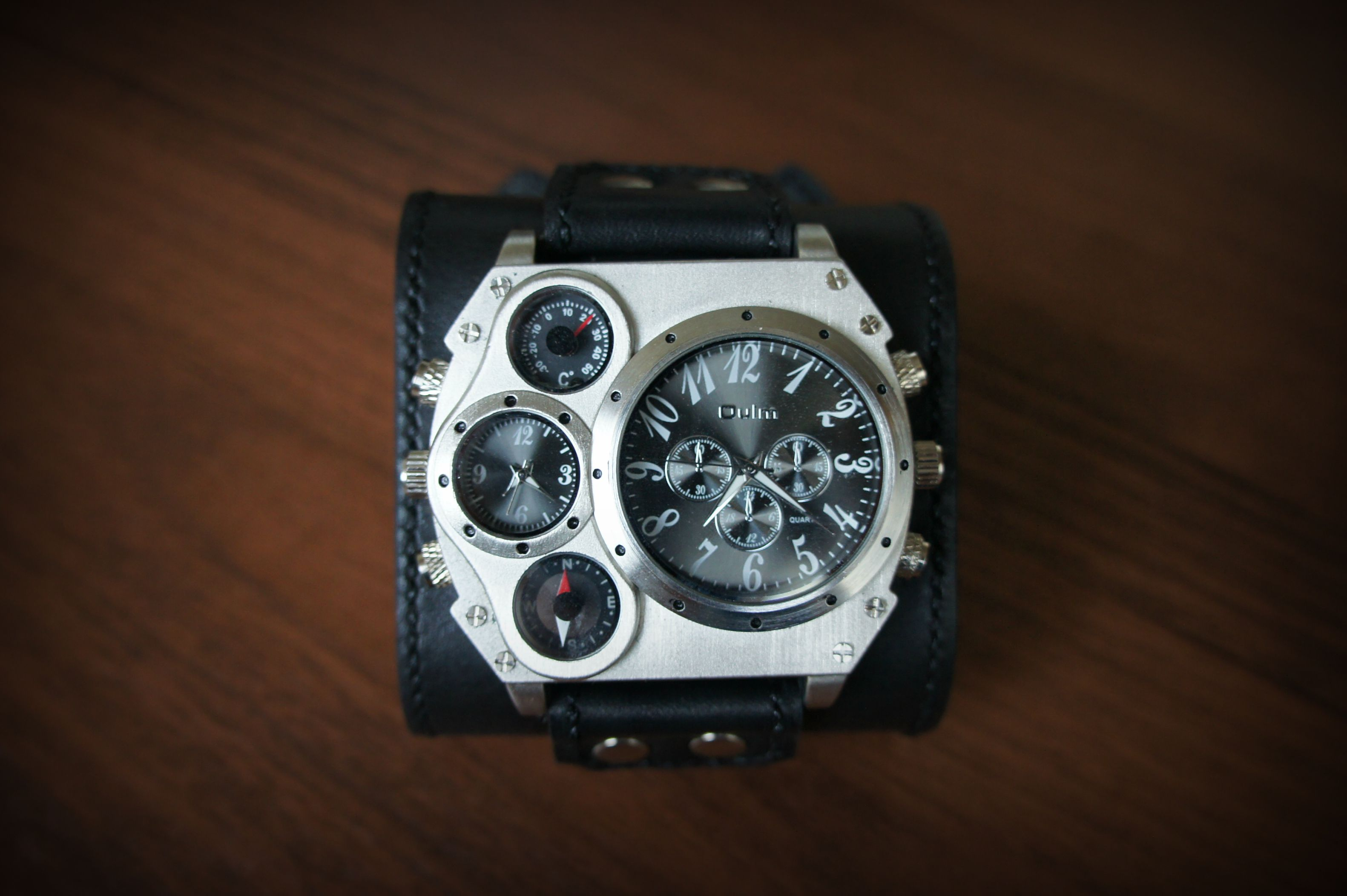 leather accessories men watch style black