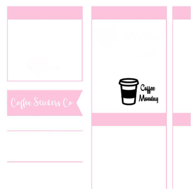 coffee stickers planner erin condren monday