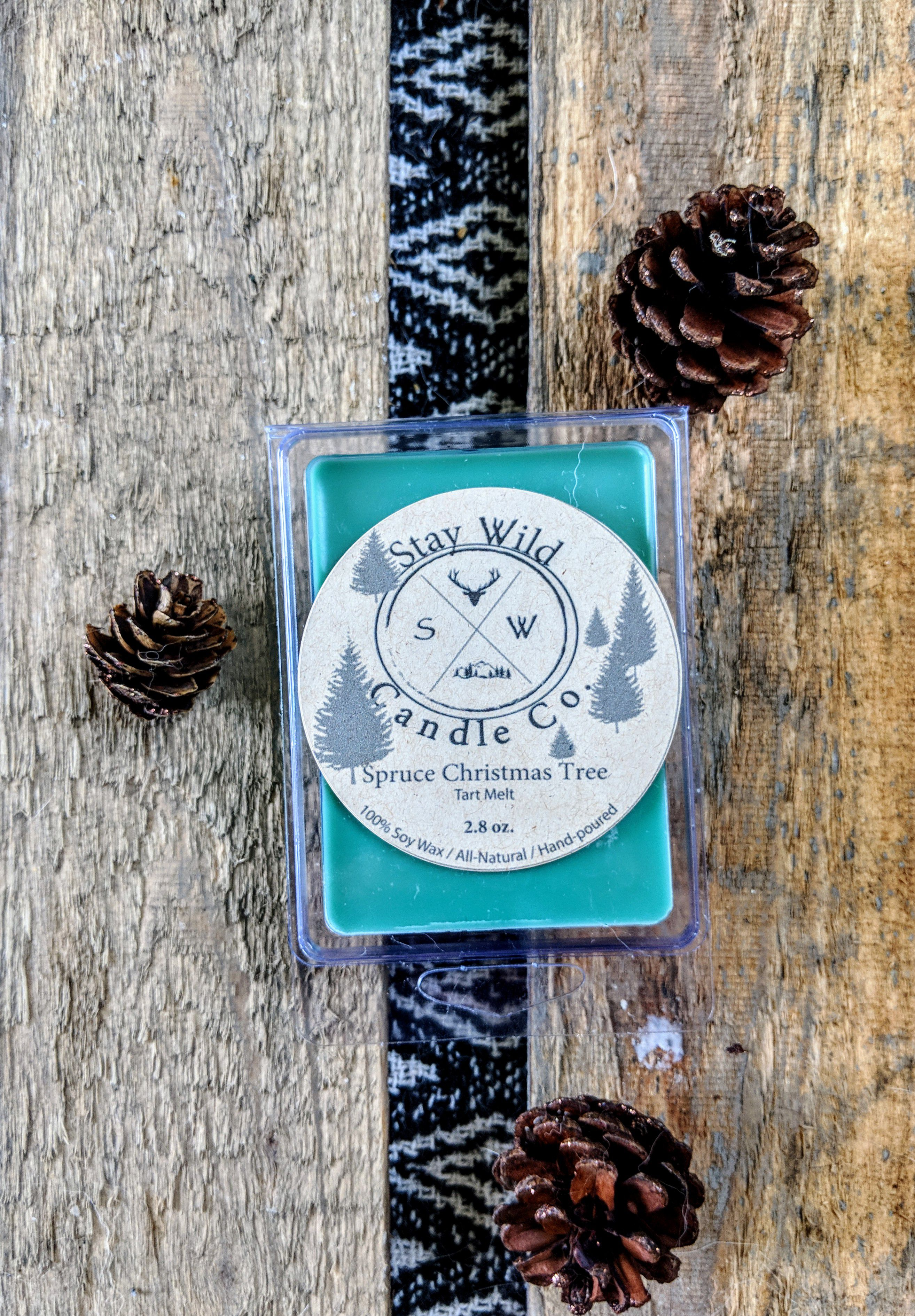 gift soy christmas tree holiday wax pine green melt