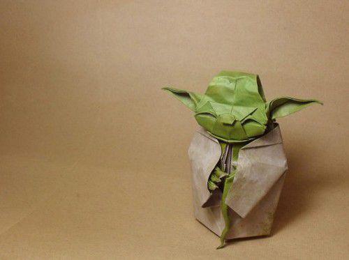 make origami paper yoda crafts