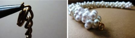 pearl jewelry necklace make gradually