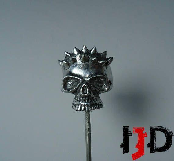 demon vampire star satanic wars skull horned tribal jewelry dark biker pagan ring gothic