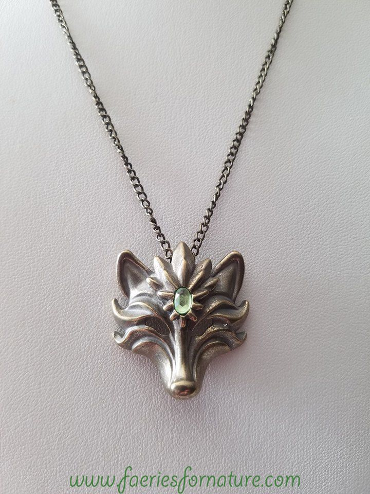 bronze fox charm pendant cute spirit necklaces things adorable jewelry necklace wolf animal kawaii