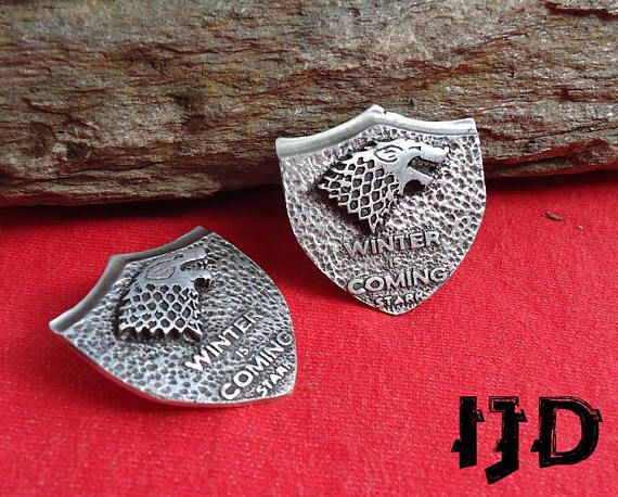 emblem game thrones vintage brooch pin house stark jewelry got merchandise winterfell sigil
