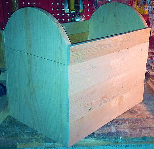 wooden make chest modern treasure