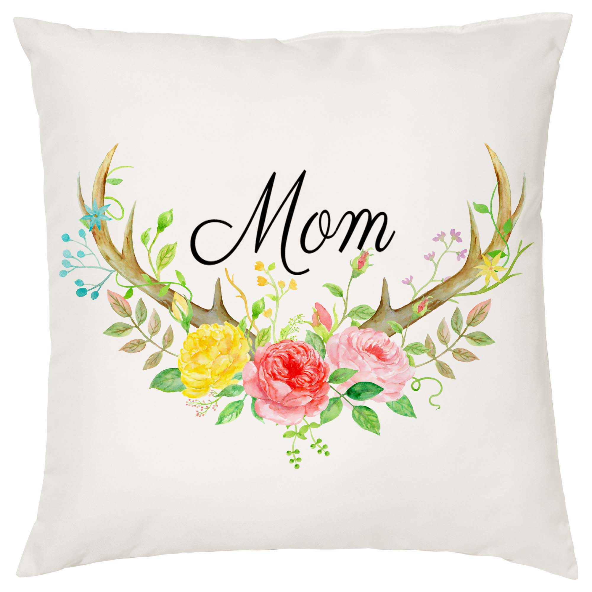 gift cushion skull floral mom homedecor nurserydecor mum mothersday mumbirthday mombirthday familygift newhome animalskull