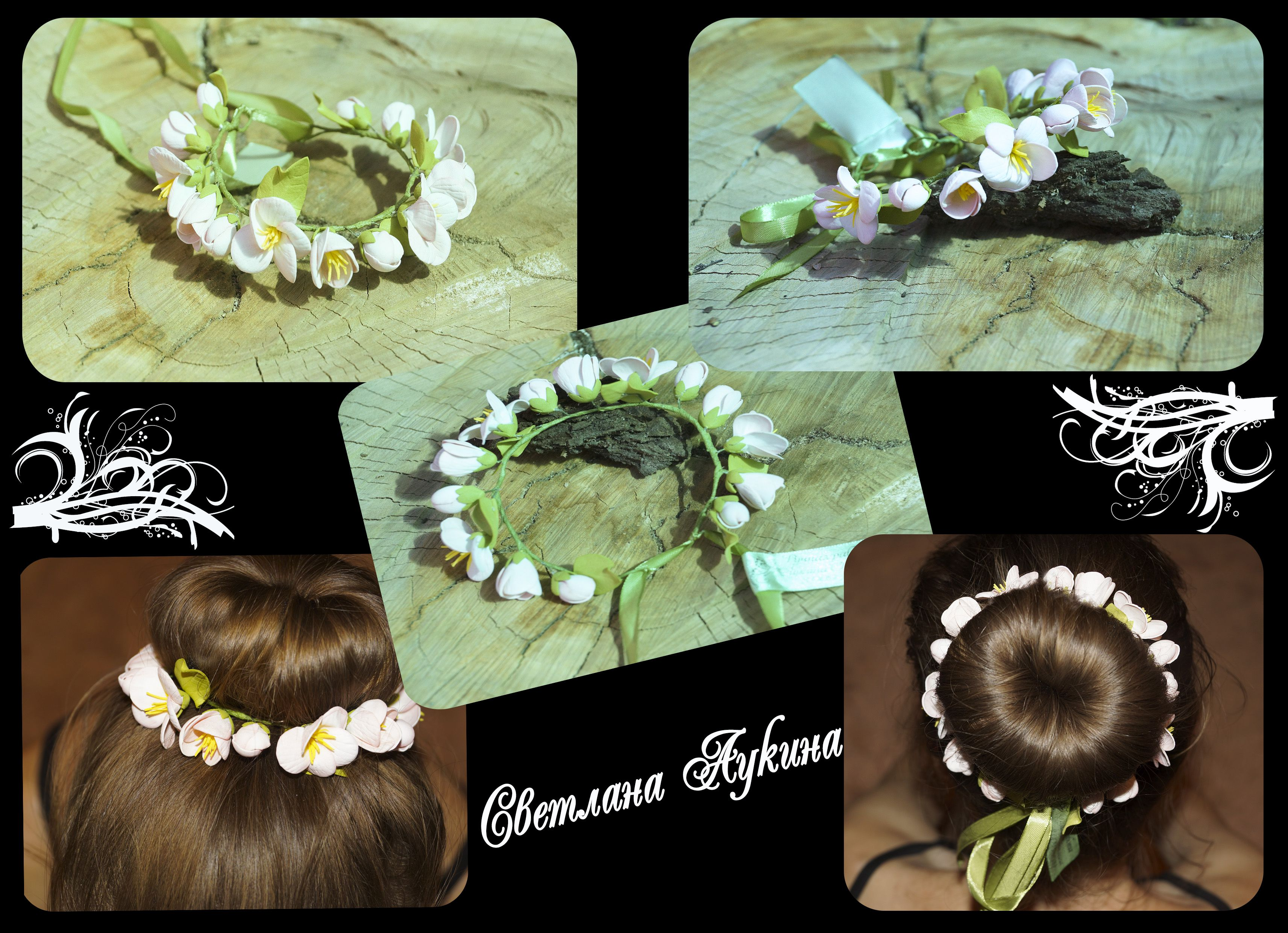 accessories flowers green hairstyle chaplet