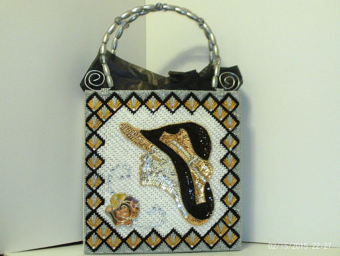 accessories sliver white black fashionable handbag stylish women large elegant