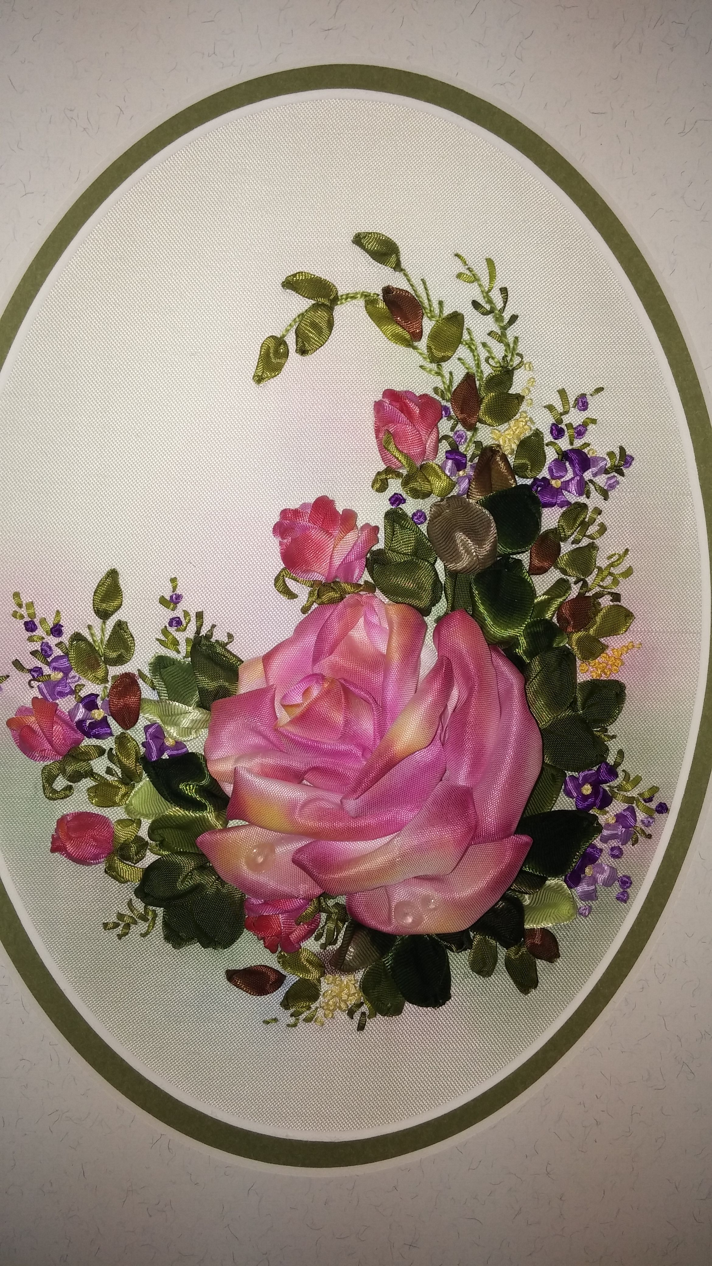 interior silk picture painting art