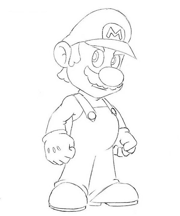mario steps art draw pencil