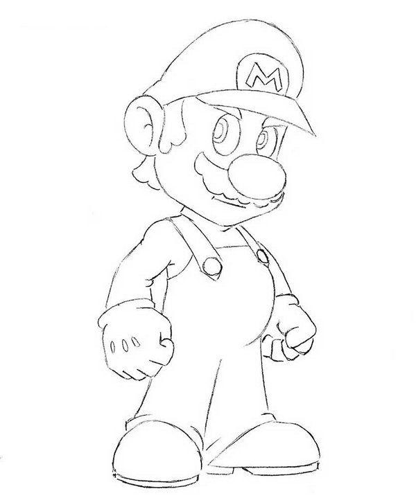 mario steps art pencil draw