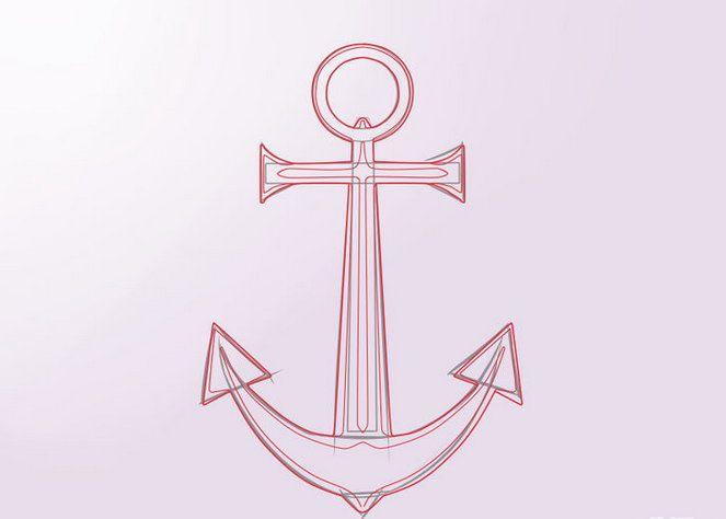 colour anchor draw steps art