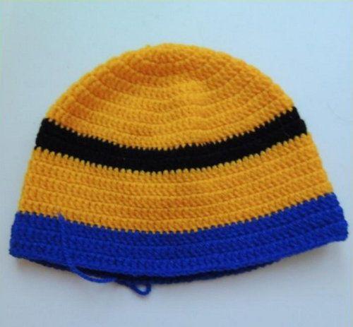 goods minion crochet textile hat