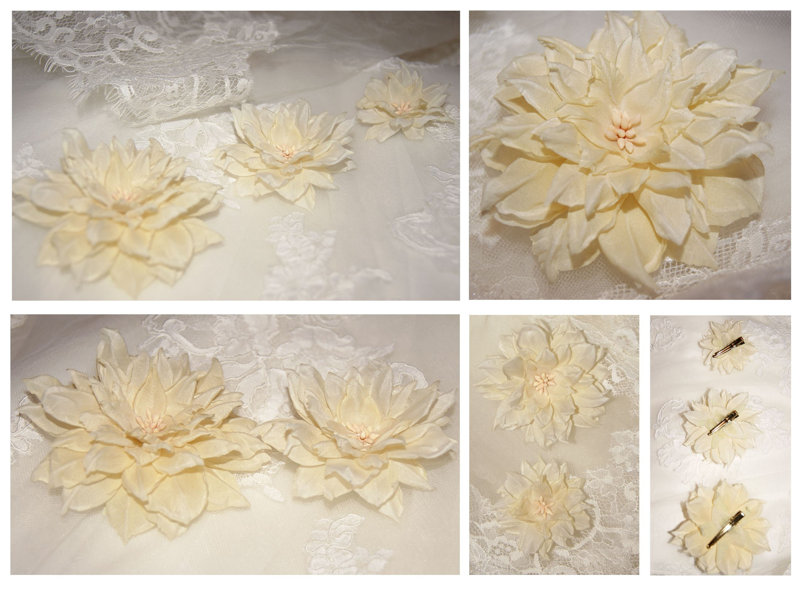 wedding present set accessories flowers hairpin