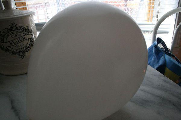 stress balls balloon make flour