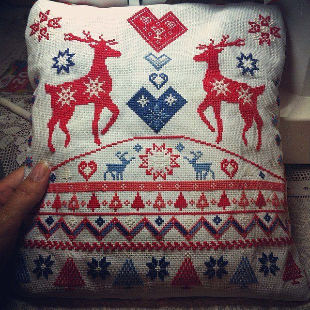 interior textile pillow home mouline deer