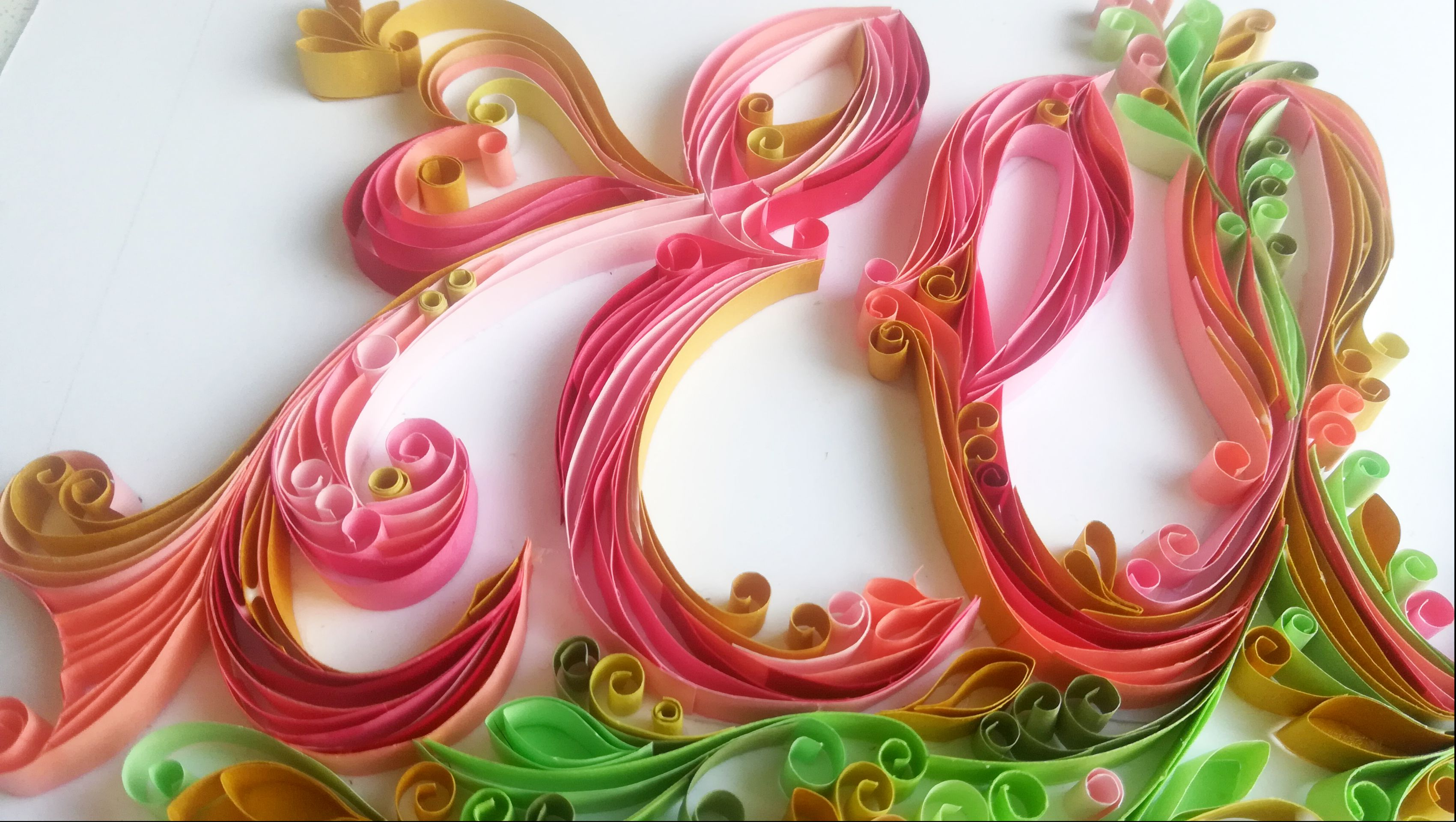 nursery personalised quilling bany
