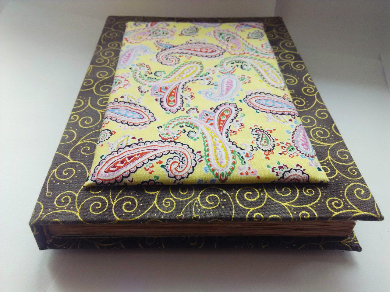 goldenpattern paisley notebook handmade