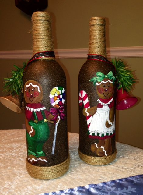 holiday decor recycled recycling bottles bottle art