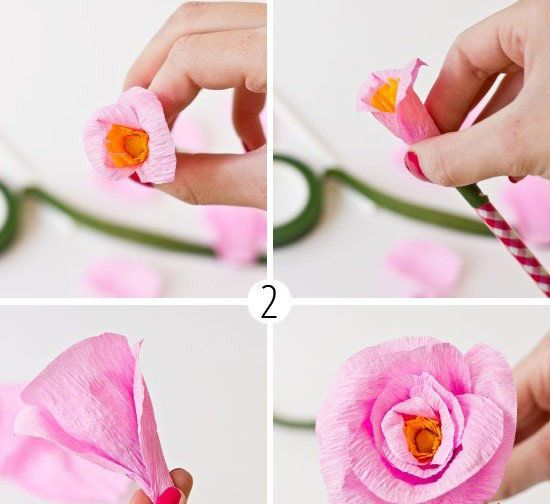 crafts pens paper rose make flower