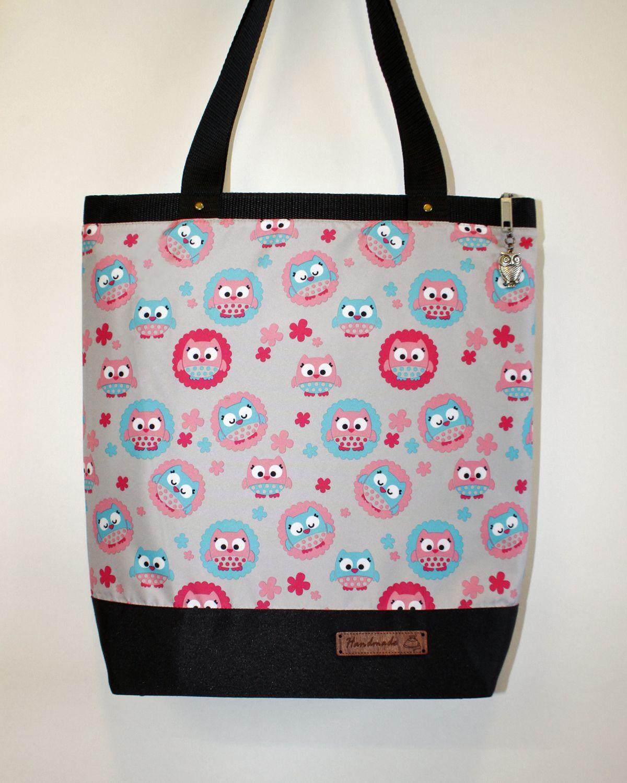 travel gift bag textile owl a4