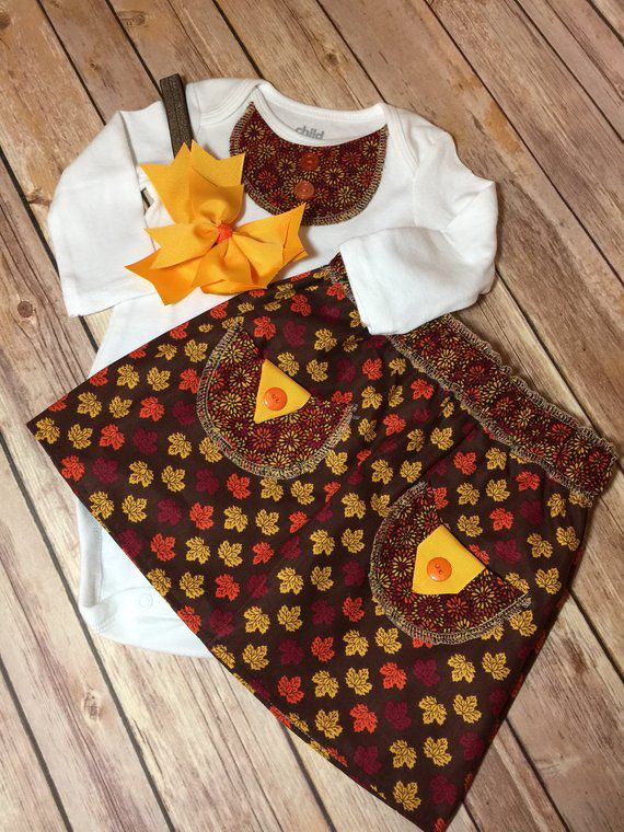 skirt baby bow fall headband handmade babysets babygifts babyclothing girlsclothing boutiquestyle babyboutique onsie thanksgiving