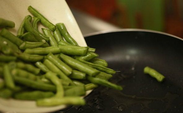 cookery fried green beans cook stewed