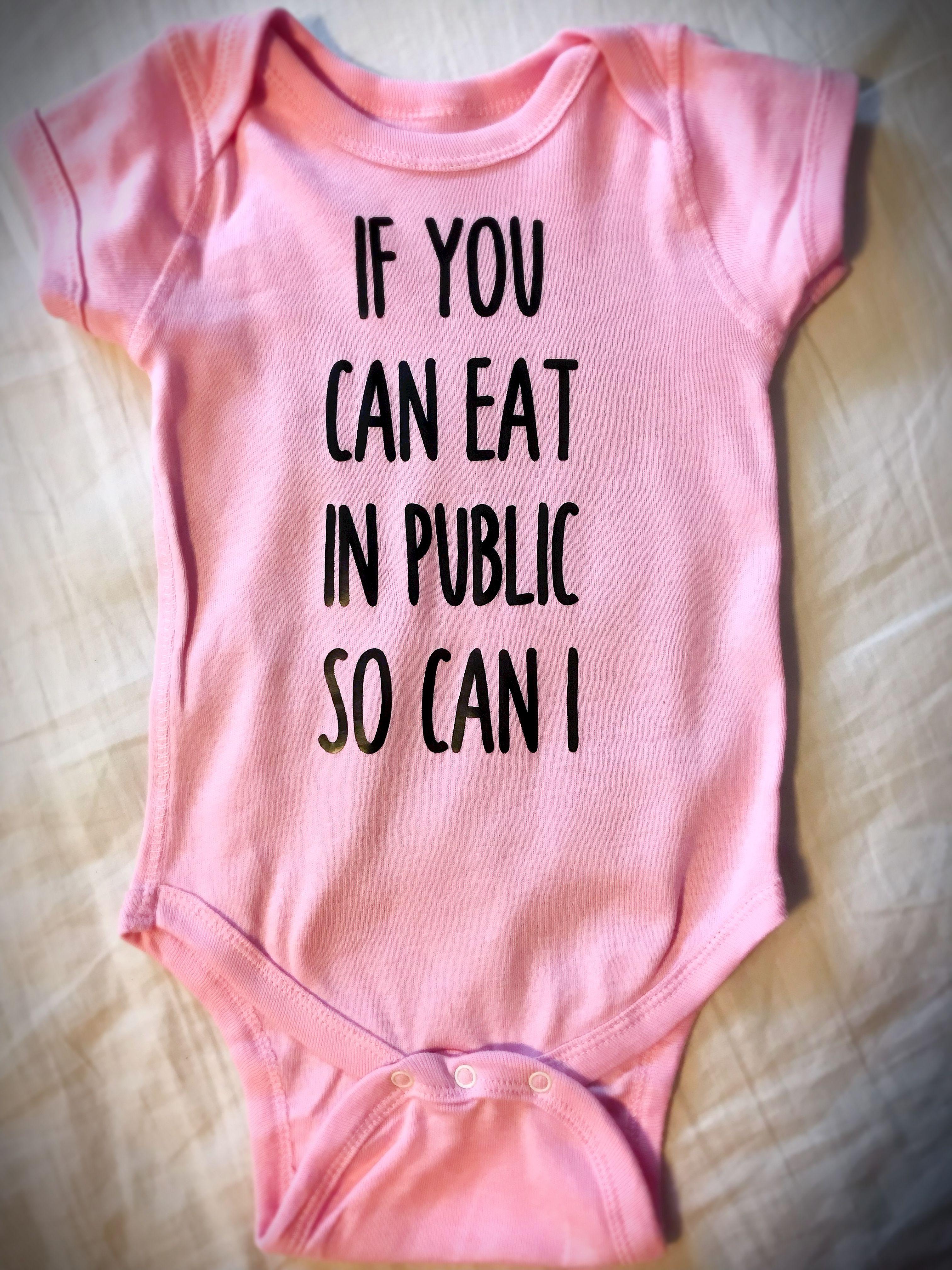 public advocacy breastfeeding baby onesie