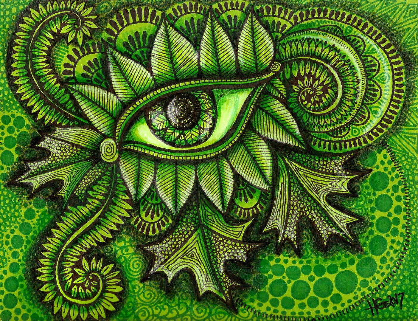 nature green eyeart zentangle eye hgcreativearts abstract drawing artwork art