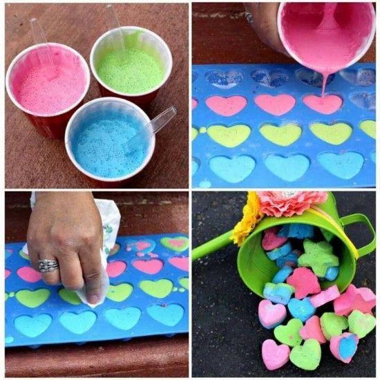 children fun game craft diy homemade colours handmade handicraft coloredchalk art