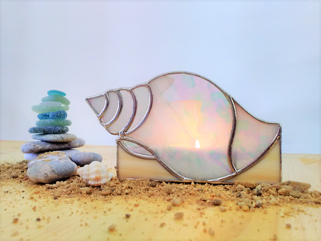 snail sea glass decoration home tulip new decor candleholders holders living engaged beachcomber just nautical stain seaside fasciolaria the shell dining hobby candles house wedding mermaid candlestick beach gift anniversary décor