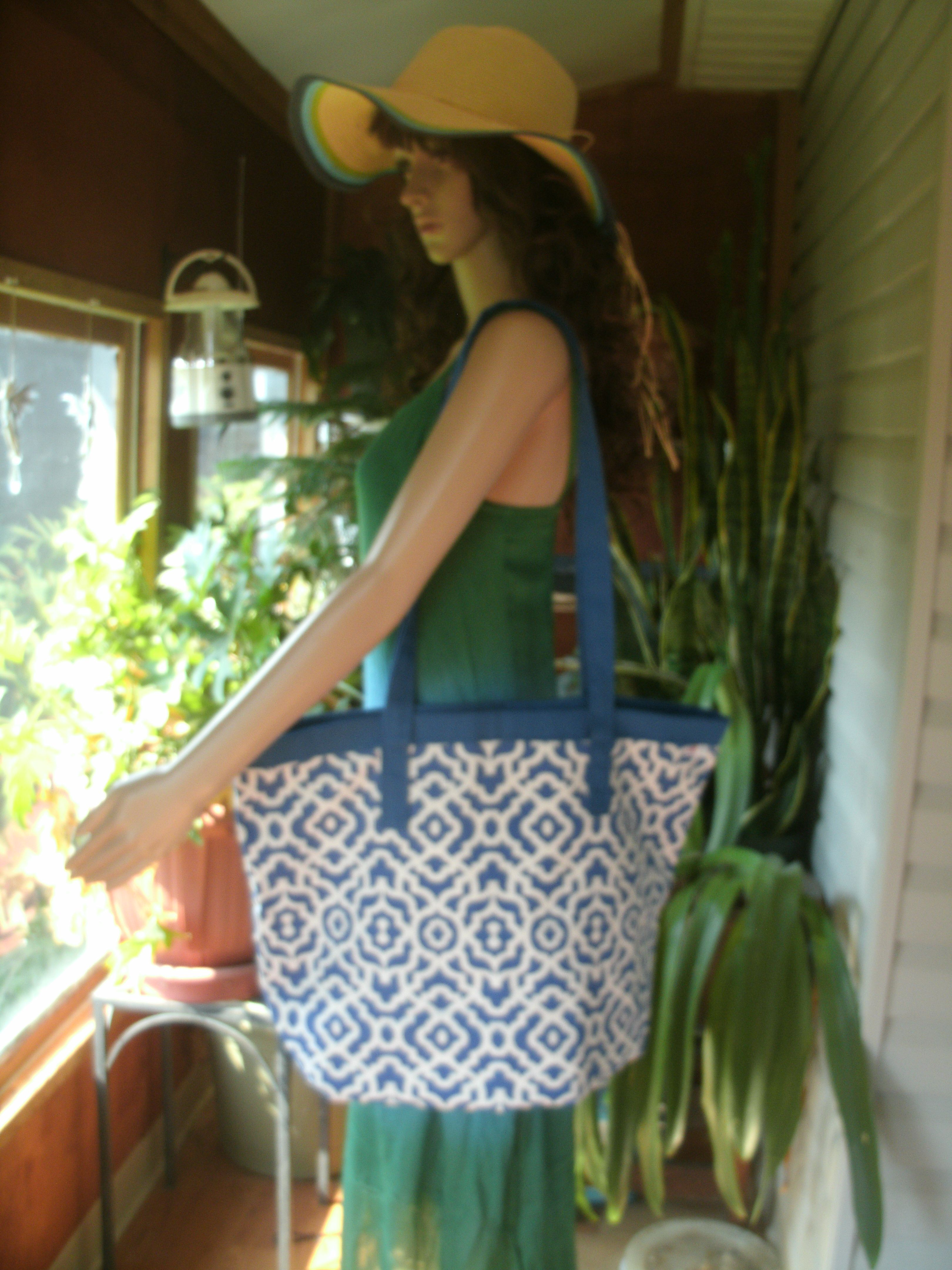 On Sale Extra Large Shopping Tote Made With Waverly Home Decor