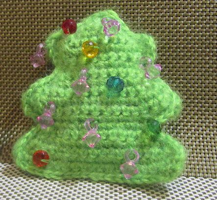 goods crochet textile tree christmas