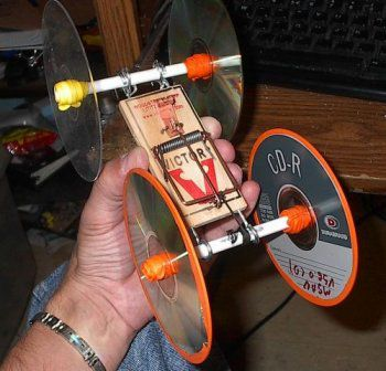 discs mousetrap make unusual car