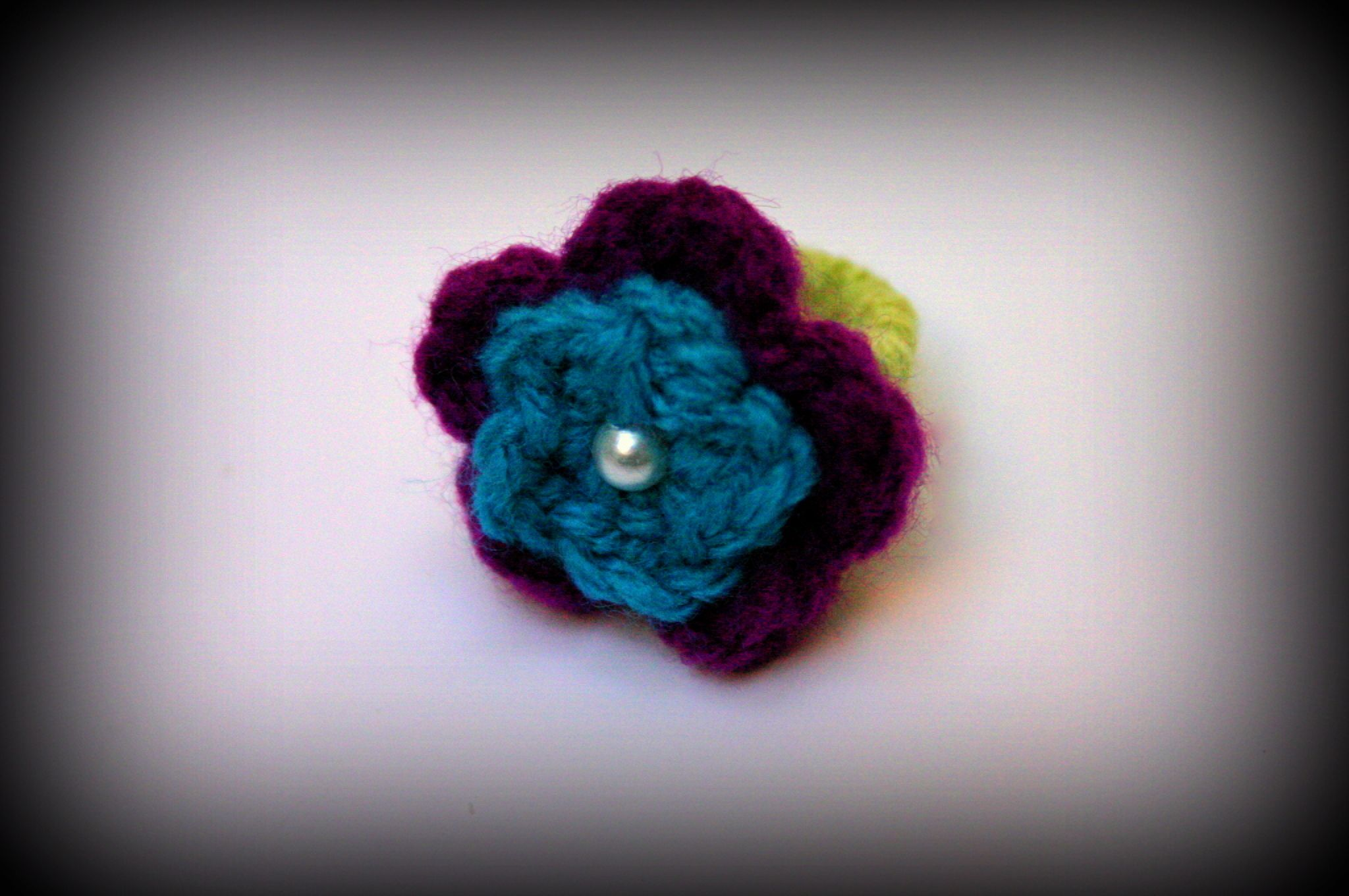 handmade boho flower vintage band ring wool jewelry crochet casual accessory rings girly