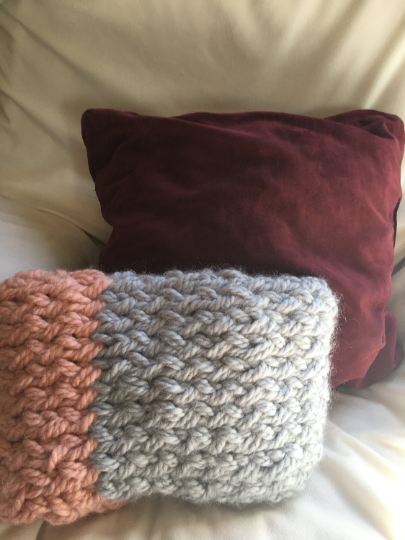gift pillow chunky knit arm soft