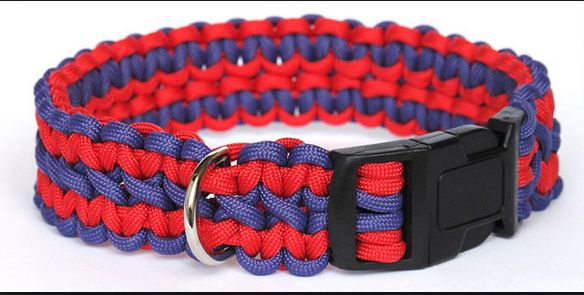 dog paracord collar weaving lace