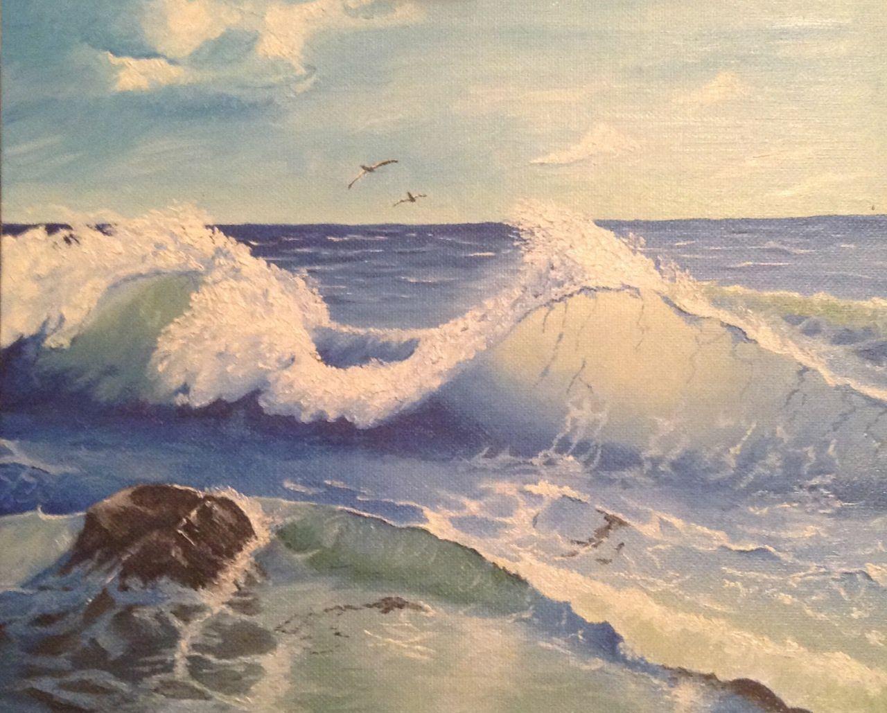 painting sea oils