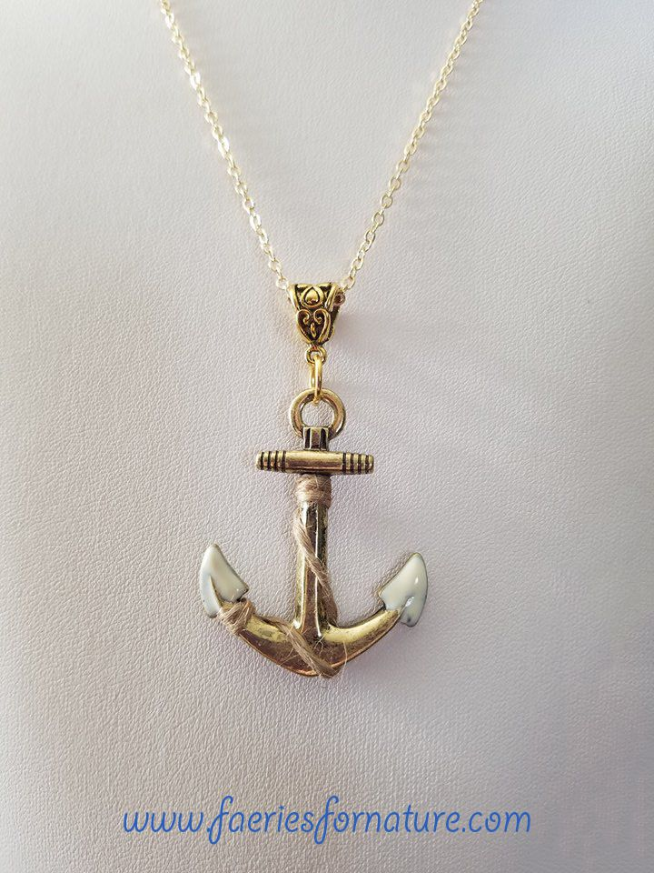nautical percy beach pendant gift ocean jackson jewelry necklace anchor bone mermaid for her