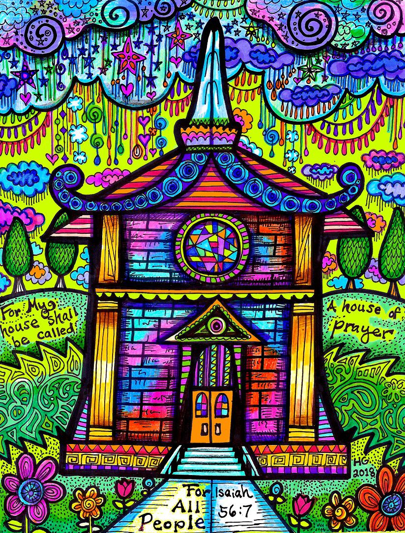 christianart houseofprayer colorful church christian hgcreativearts colorfulart prayer abstract drawing artwork art