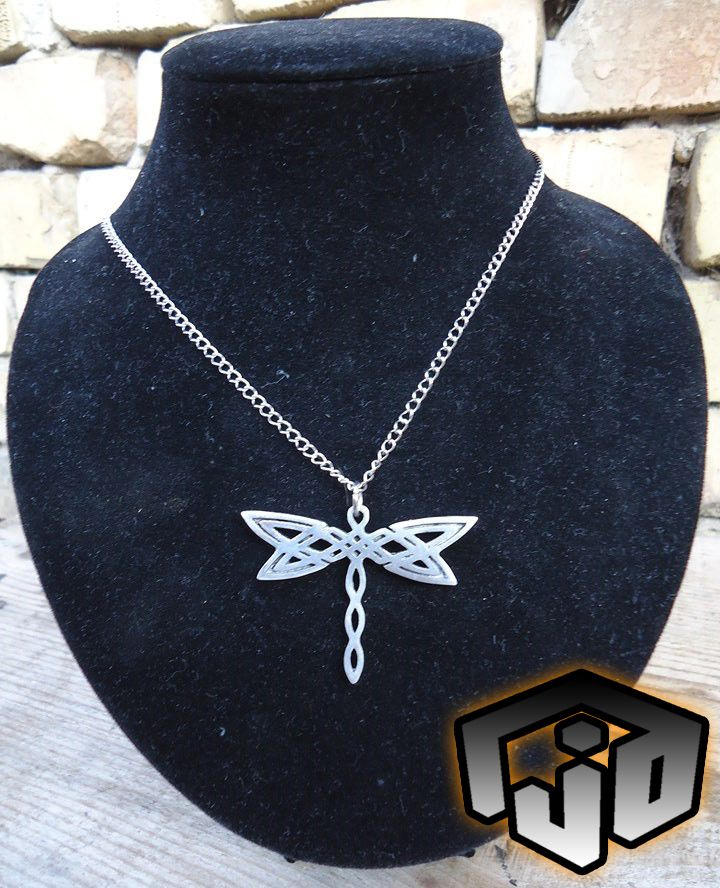 pendant necklace jewelry charm celtic dragonfly insect