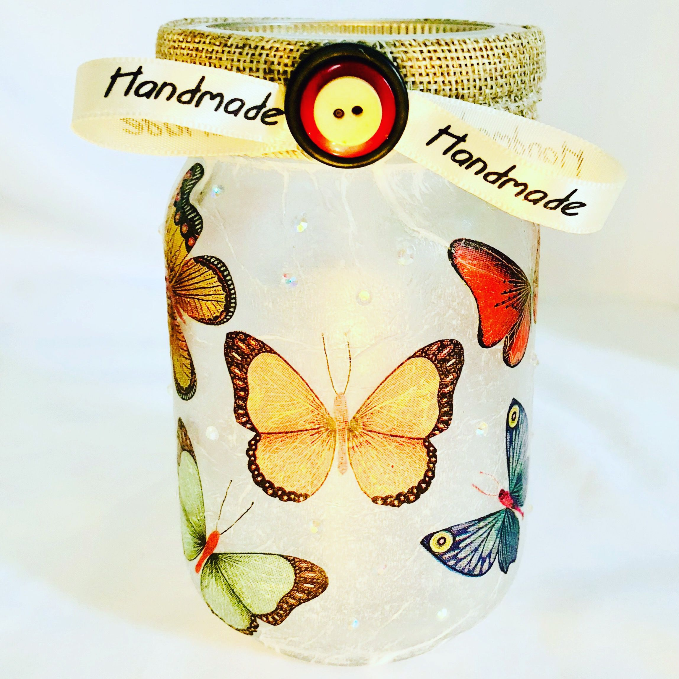 butterflies jars jar night lights mason bottles lighted art