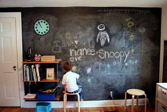 make instruction steps paint chalkboard