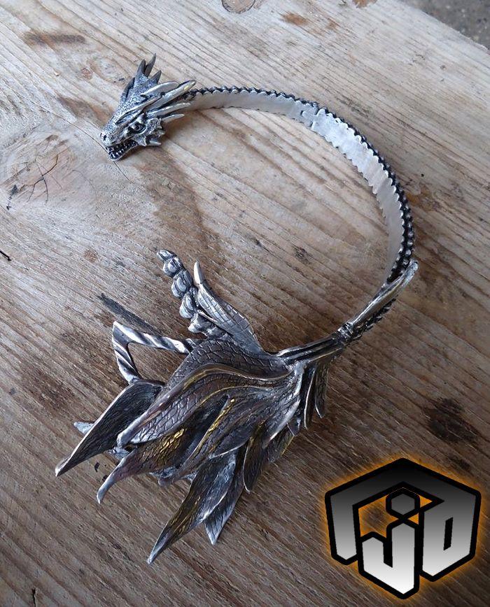 dragon targaryen daenerys khaleesi game thrones house celtic necklace silver emblem gothic epic