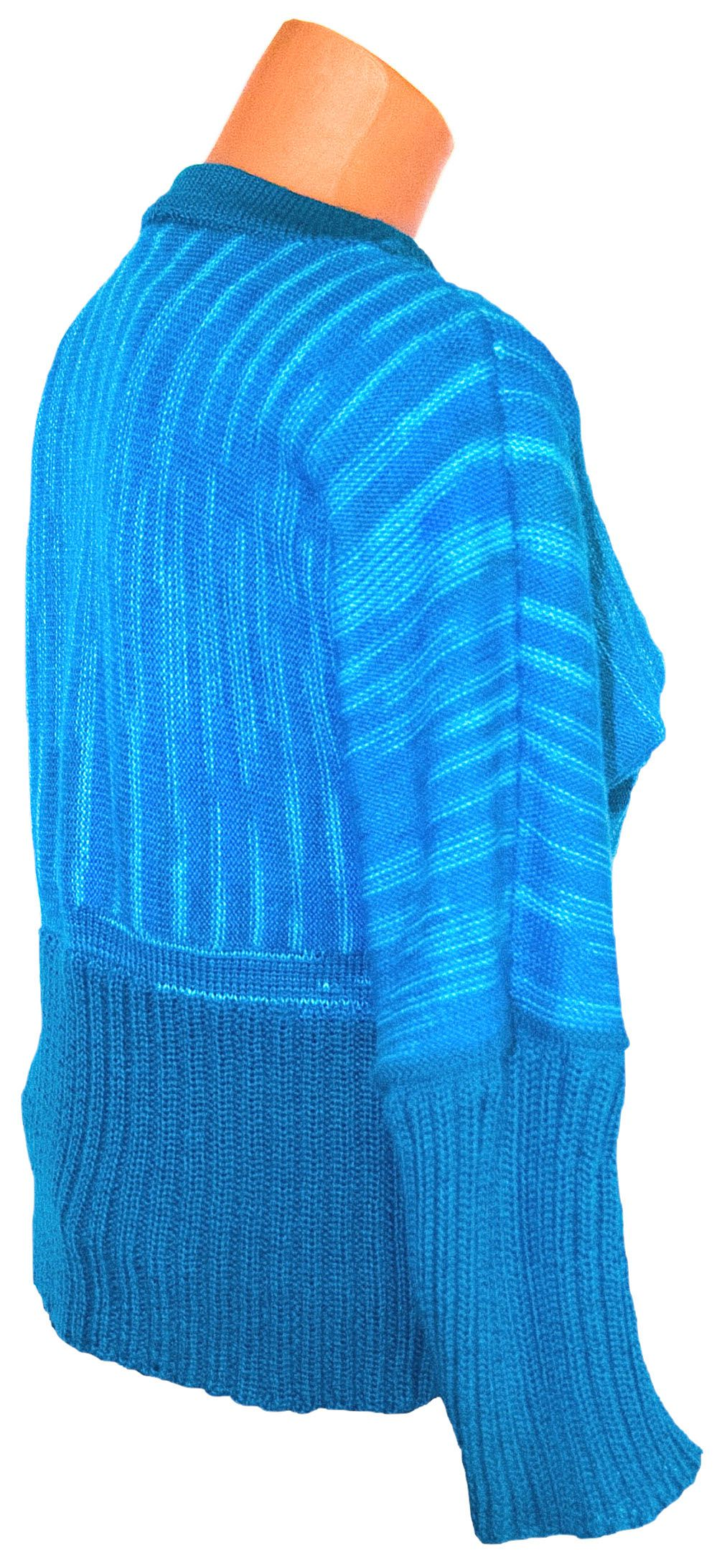 clothes silk yarn pull-over blue