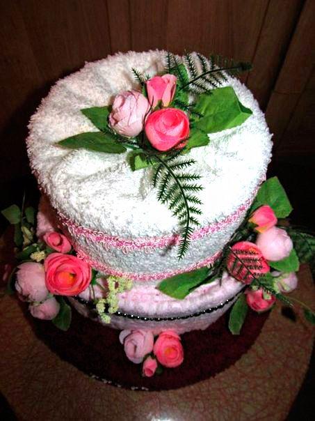 hack towel cake gift textiles