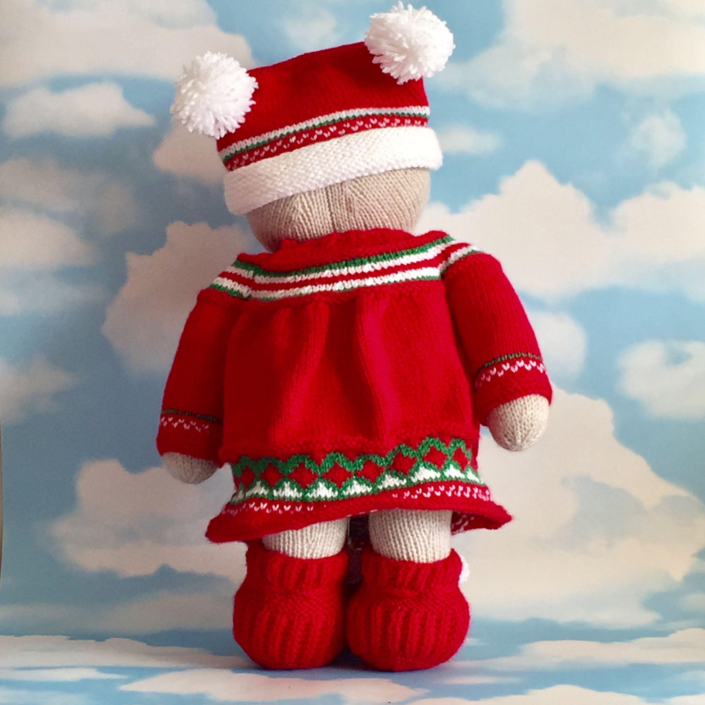 gift bear red handmade