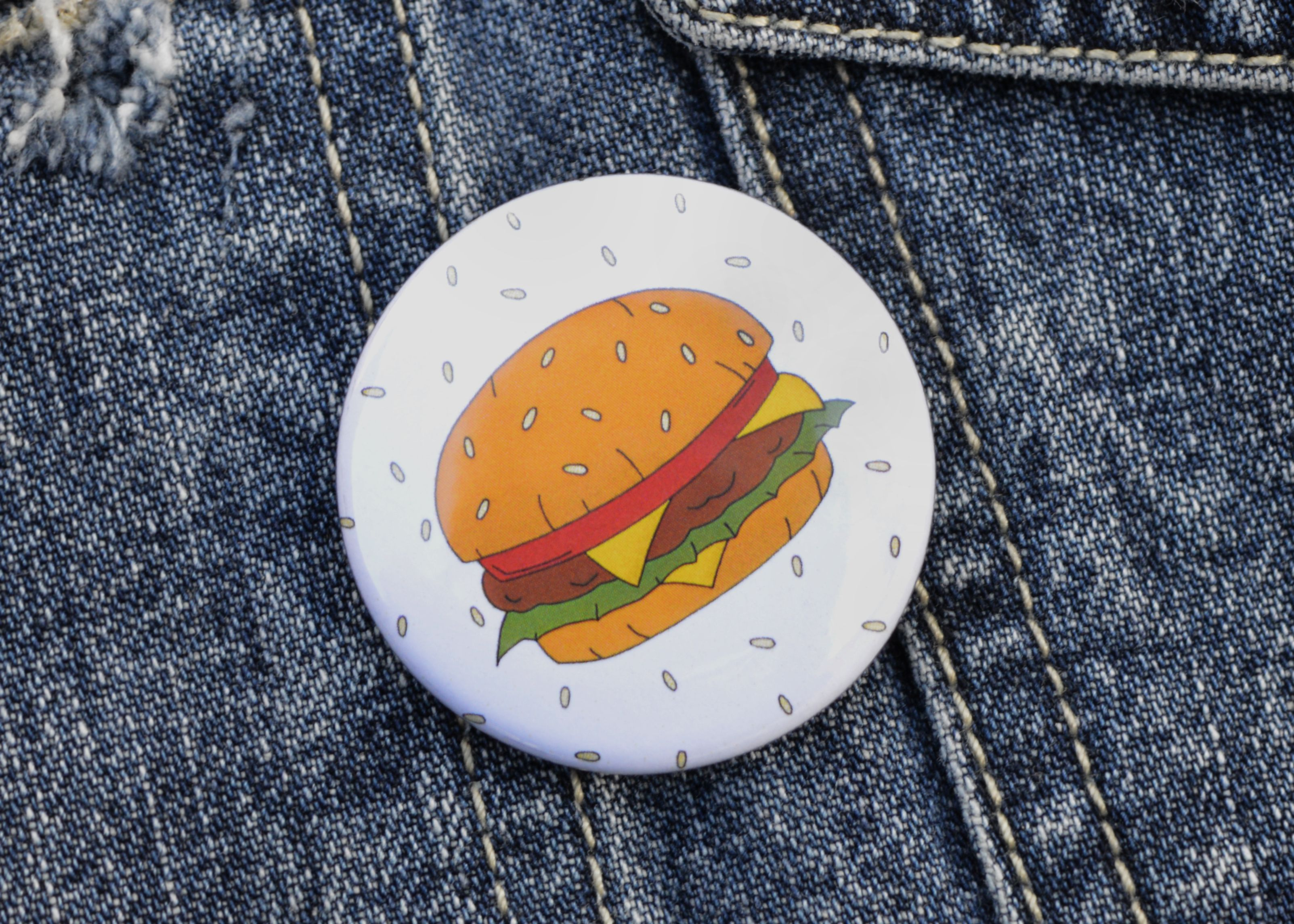 burger food unique gift accessories stockingfiller pin pinbadge badge tattoo clothing